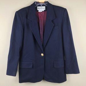 Oleg Cassini vintage navy blue blazer